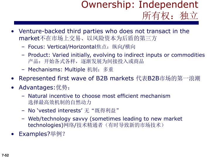Ownership: Independent