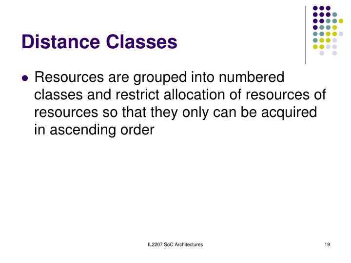 Distance Classes