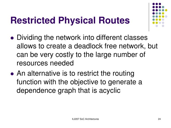 Restricted Physical Routes