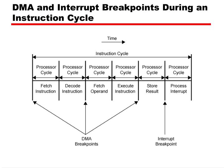 DMA and Interrupt Breakpoints During an Instruction Cycle