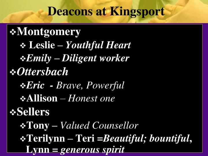 Deacons at Kingsport