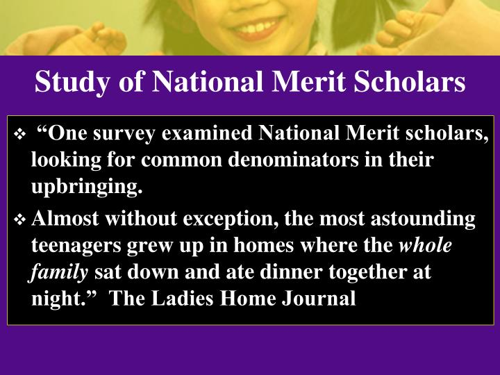 Study of National Merit Scholars