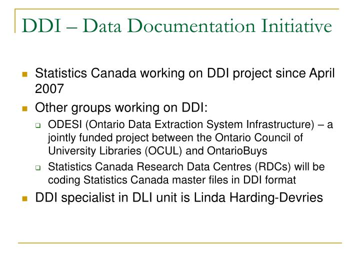 DDI – Data Documentation Initiative