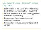 dli survival guide national training day demo