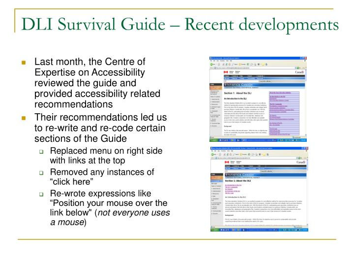 DLI Survival Guide – Recent developments
