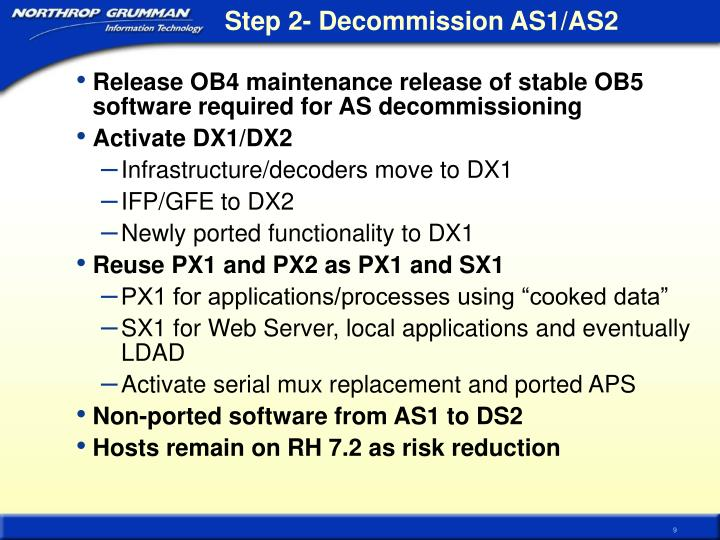Step 2- Decommission AS1/AS2