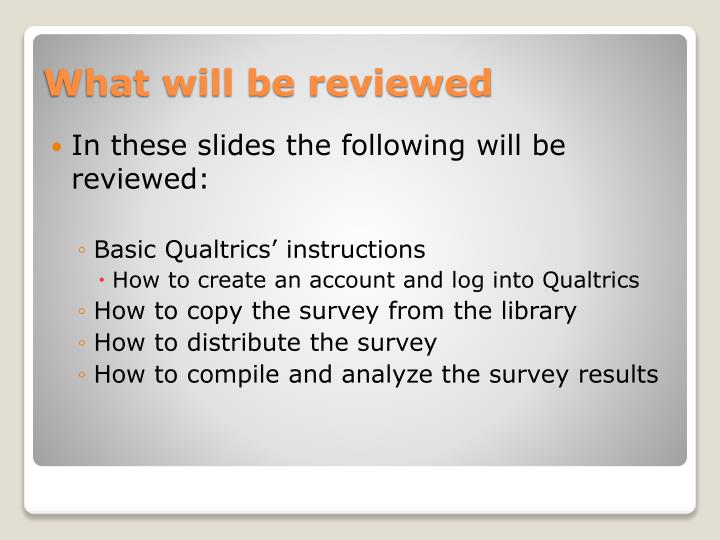 In these slides the following will be reviewed: