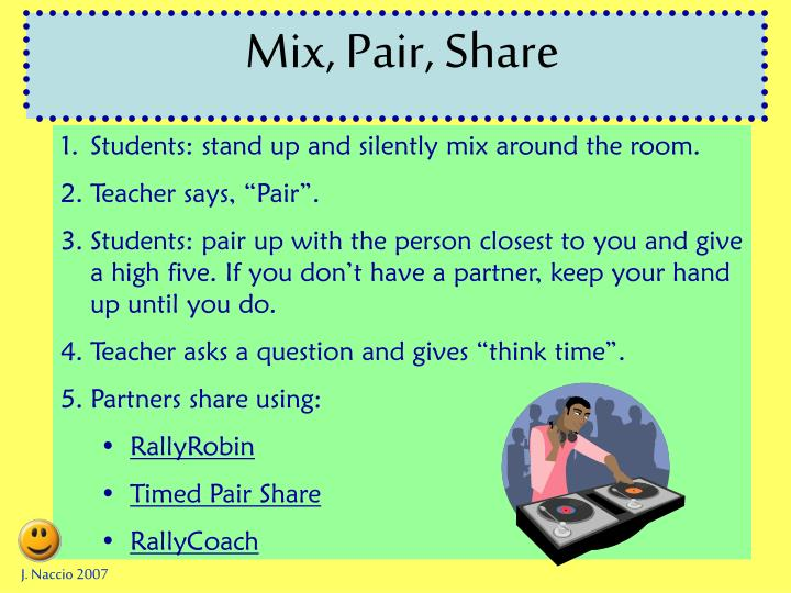 Mix, Pair, Share