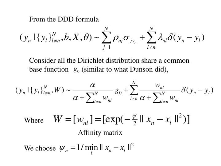 From the DDD formula
