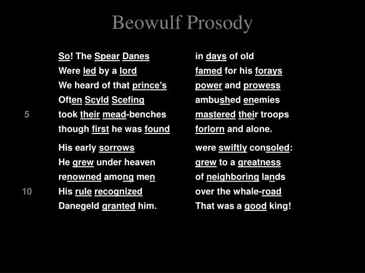 Beowulf Prosody