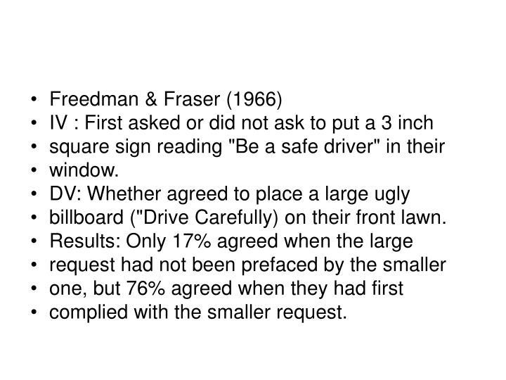 Freedman & Fraser (1966)