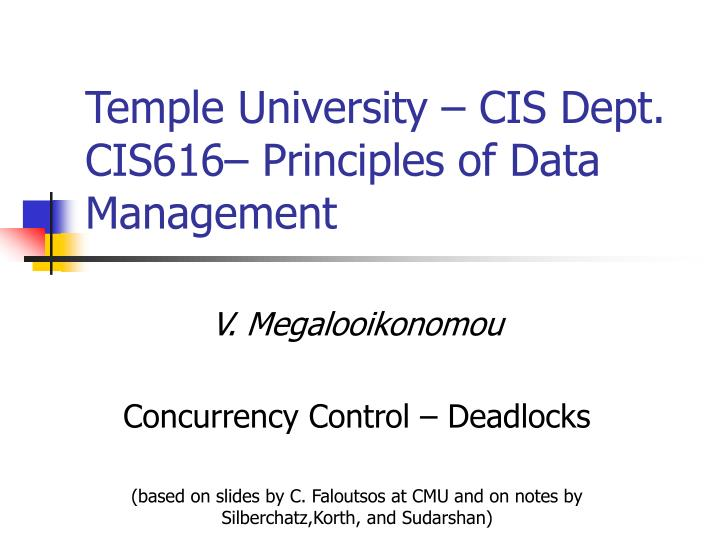 Temple University – CIS Dept.