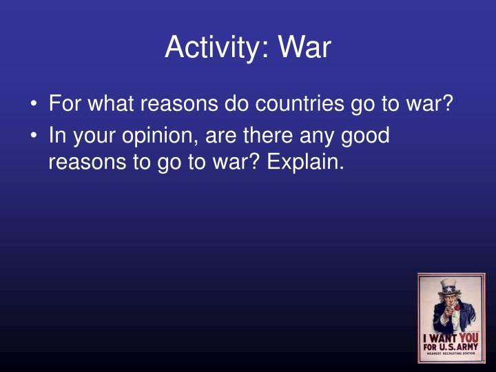 Activity: War