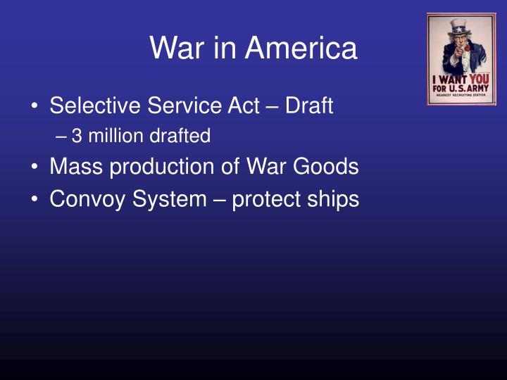 War in America