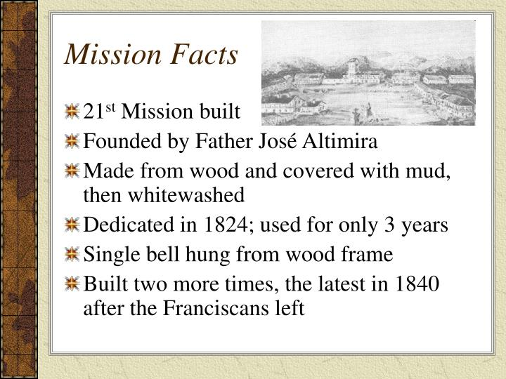 Mission Facts