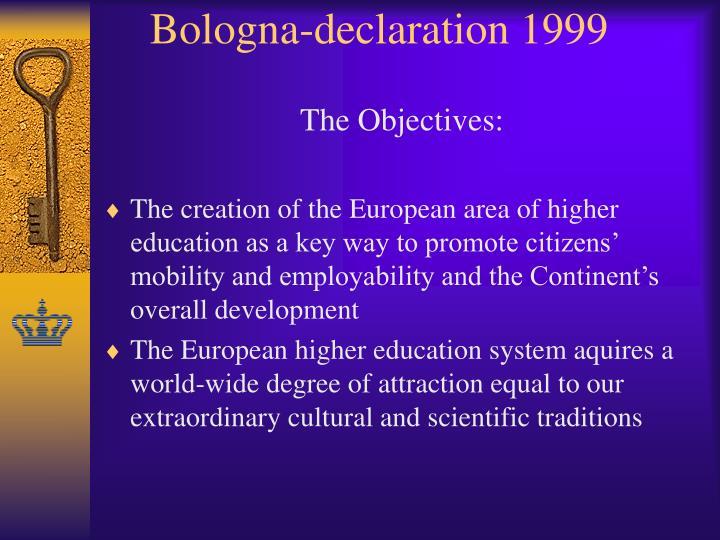 Bologna-declaration 1999