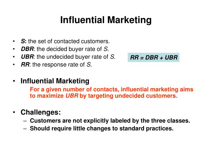 Influential Marketing