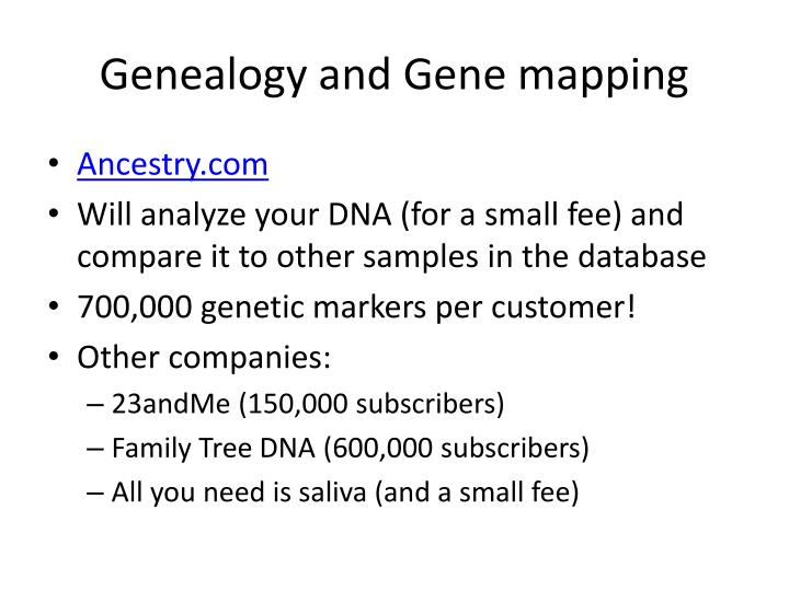 Genealogy and Gene mapping