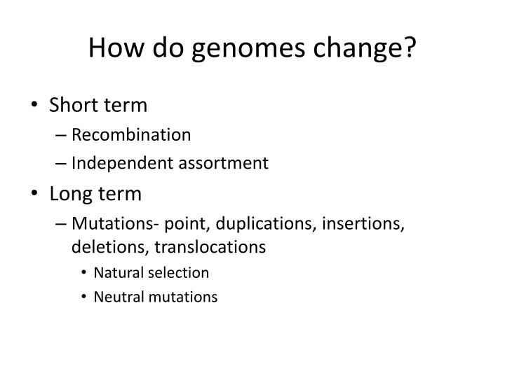 How do genomes change?