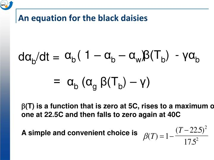 An equation for the black daisies