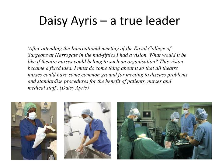 Daisy ayris a true leader