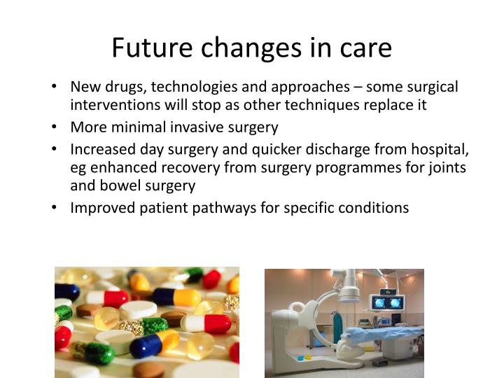 Future changes in care