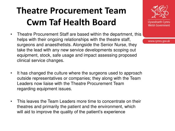 Theatre Procurement Team