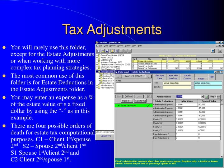 Tax Adjustments