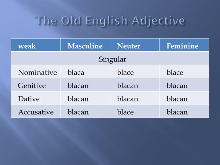 The Old English Adjective