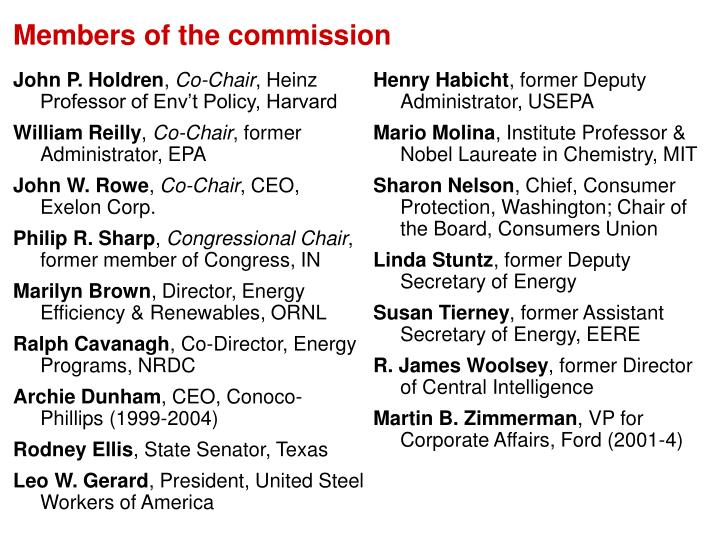 Members of the commission