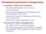 the national commission on energy policy
