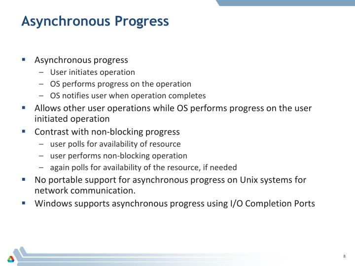 Asynchronous Progress