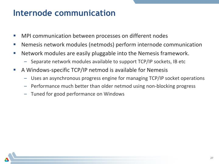Internode communication