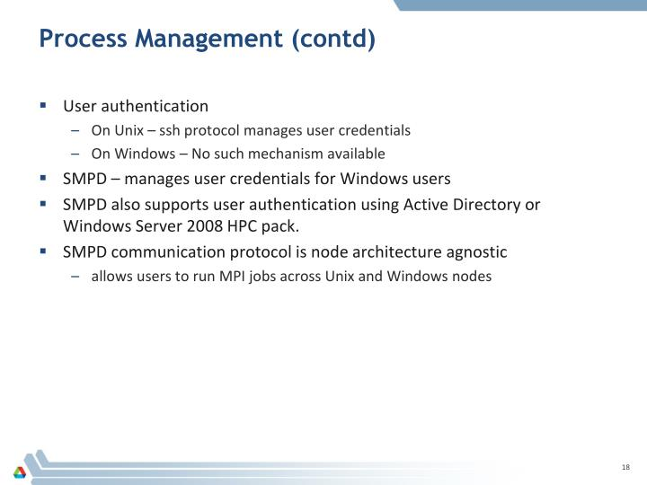 Process Management (contd)