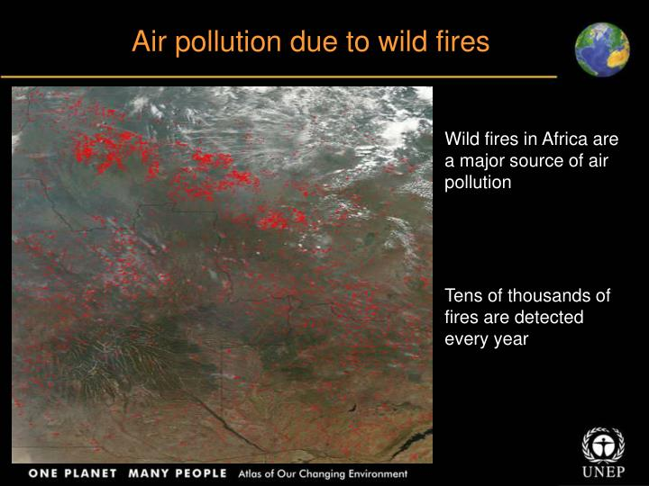 Air pollution due to wild fires