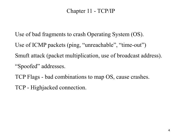 Chapter 11 - TCP/IP