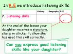 in r e we introduce listening skills