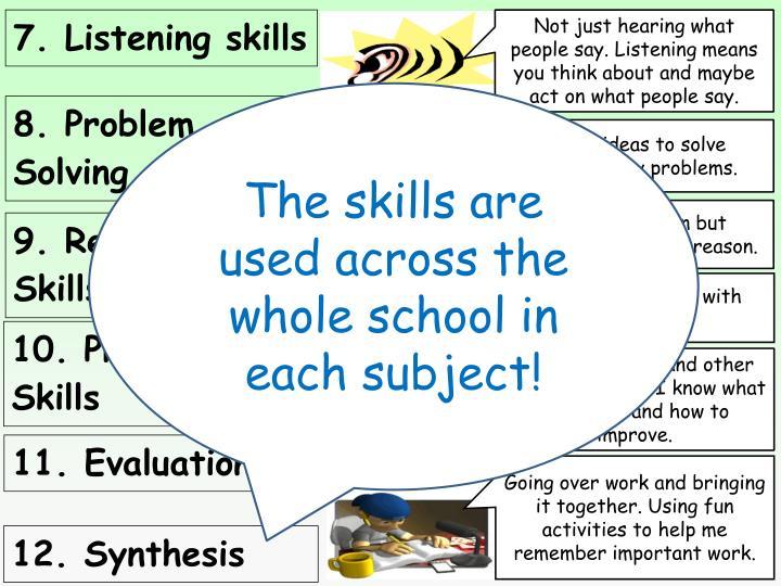 7. Listening skills