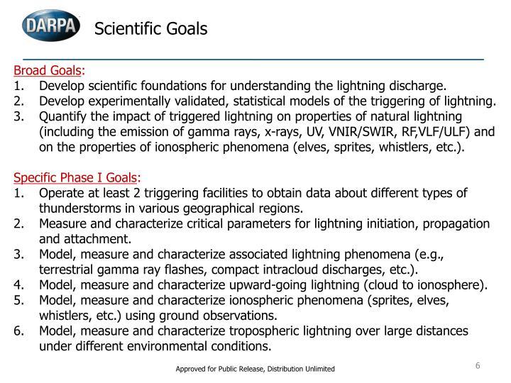Scientific Goals