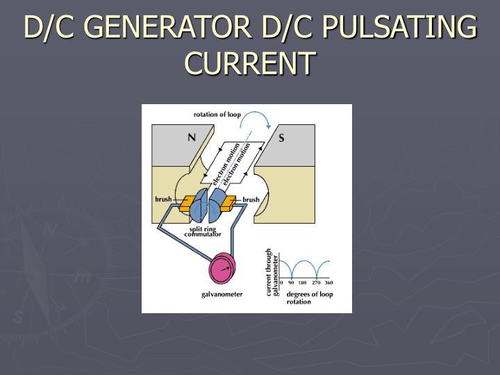 D/C GENERATOR D/C PULSATING CURRENT