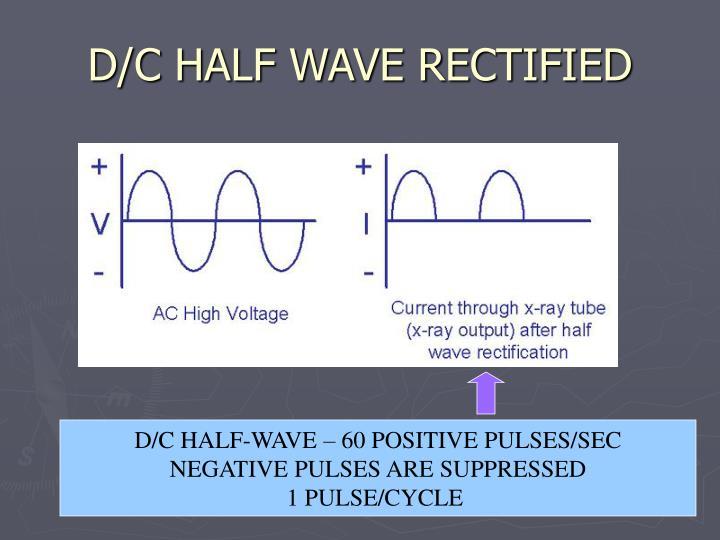 D/C HALF WAVE RECTIFIED