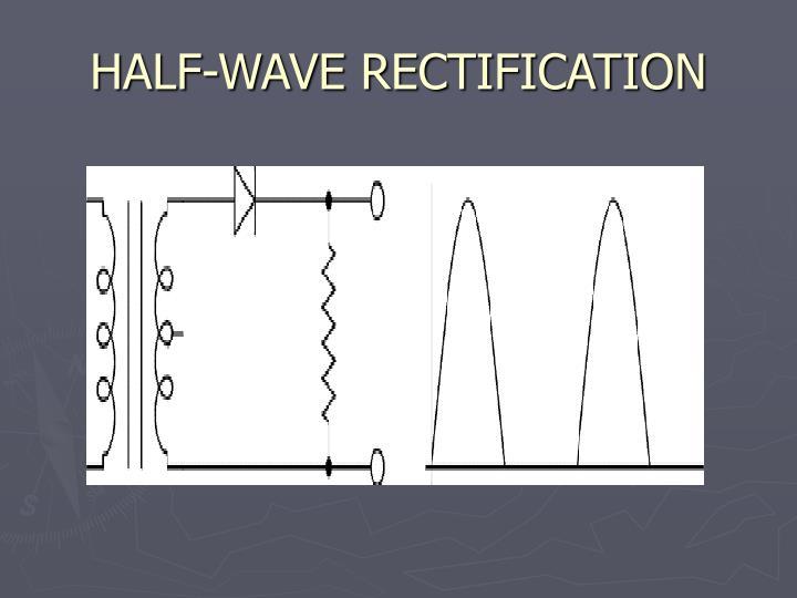 HALF-WAVE RECTIFICATION