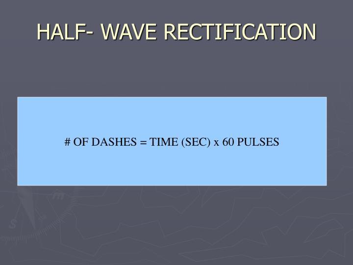 HALF- WAVE RECTIFICATION