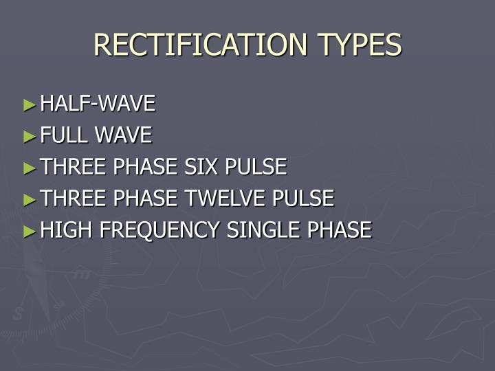 RECTIFICATION TYPES
