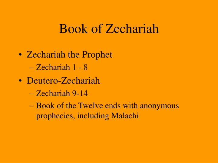 Book of Zechariah
