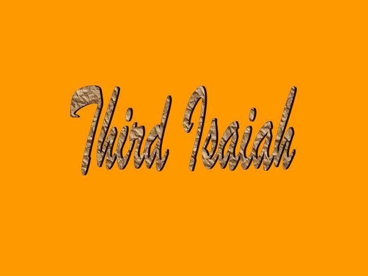 Third Isaiah