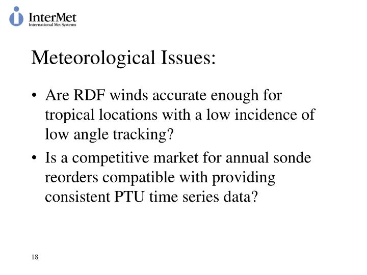 Meteorological Issues: