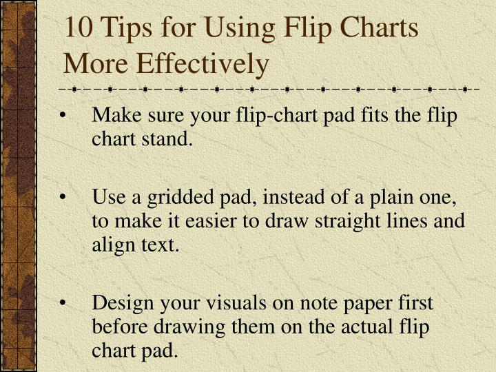 10 Tips for Using Flip Charts More Effectively