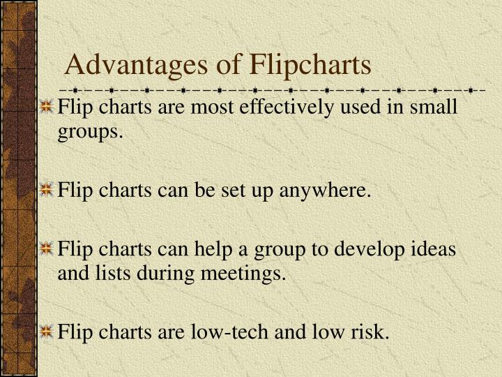 Advantages of Flipcharts