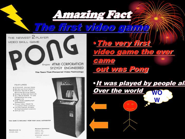 Amazing Fact